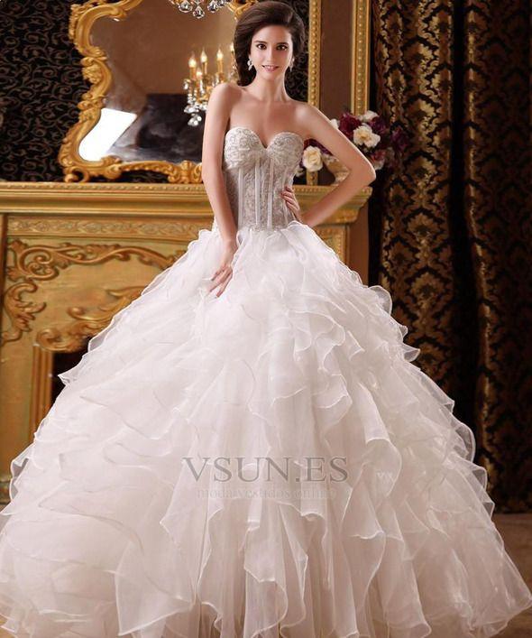 vestido+de+novia+princesa+corpiño+acentuado+con+perla+hasta+el+suelo