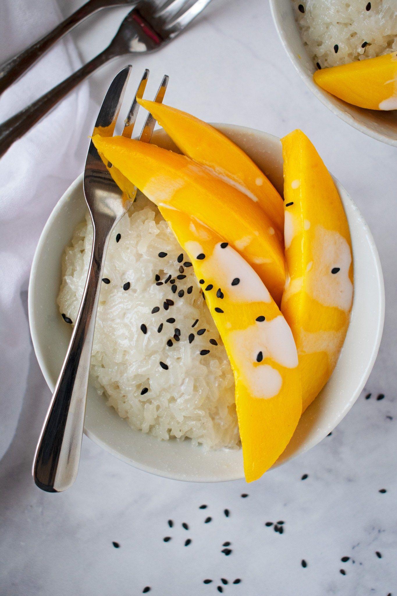 Sweet Coconut Sticky Rice with Mango | Recipe | Mango ...