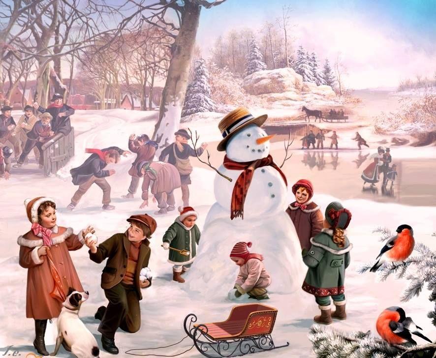 Vintage   ~ ❤ Winterkinder ~ ❤   Pinterest   Weihnachten und ...