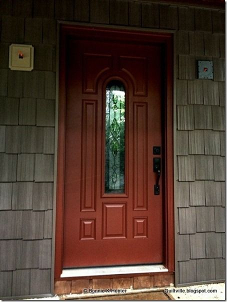 Rust Red Door Exterior House Color Shutters Houses