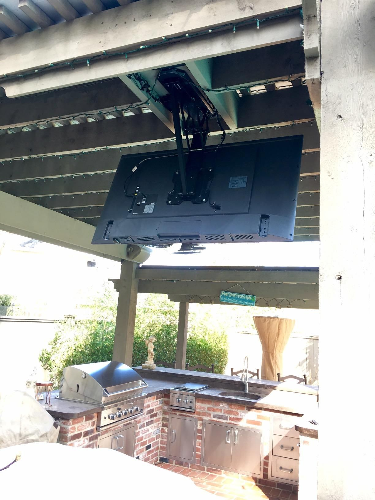 VIVO Electric Motorized Flip Down Pitched Roof