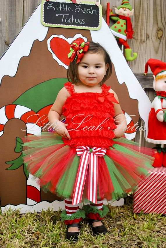 Holly Jolly Holiday Tutu Red and Green by LittleLeahTutus on Etsy, $22.00