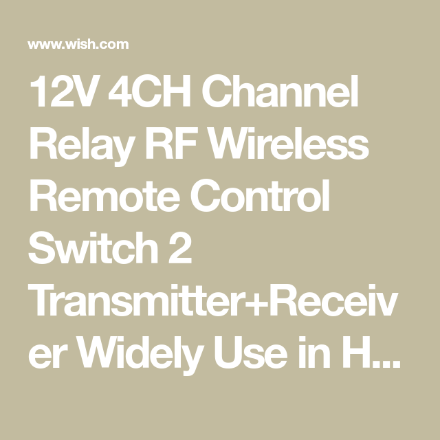 12V 4CH Channel Relay RF Wireless Remote Control Switch 2