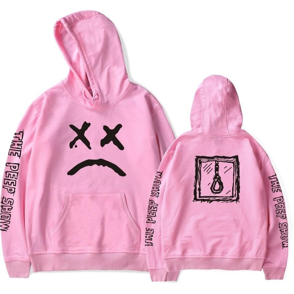 2fe68e5801f36 ... Long Sleeve Pullover Sudaderas Mujer Female Tops Size S Color Black. Lil  Peep 'The Peep Show' Hoodie – Tomscloth