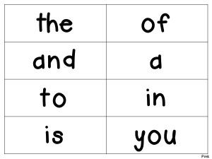 Sight Words: Flash Cards/Word Wall