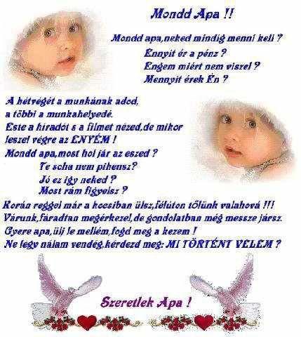 gyermeknapi szép idézetek Mondd Apa!,Egy angyal mindent lát ,Szeresd a gyermeket ,A barátság