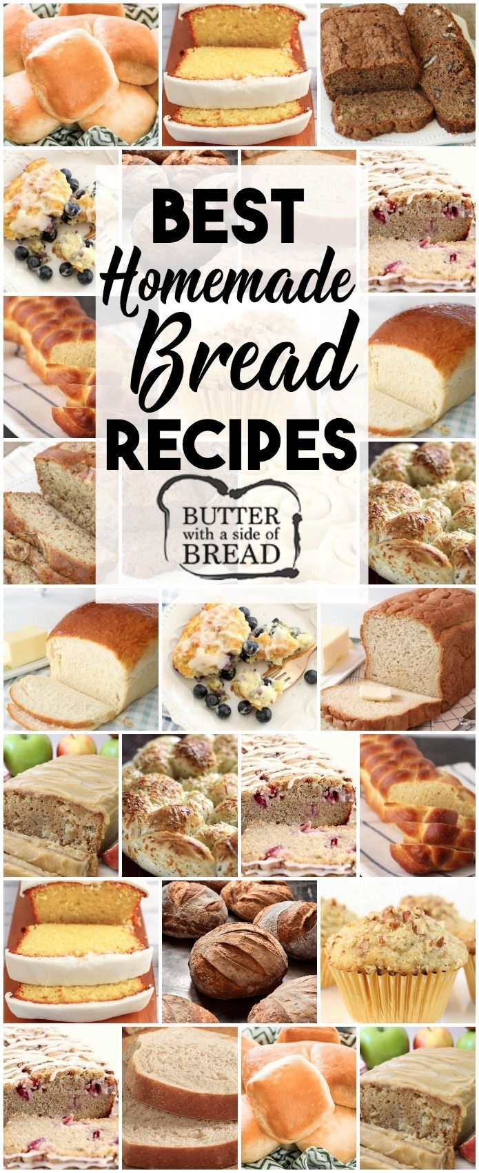 Best Bread Recipes~ from sweet to savory, quick breads to breads with yeast, we Best Bread Recipes~ from sweet to savory, quick breads to breads with yeast, we ...
