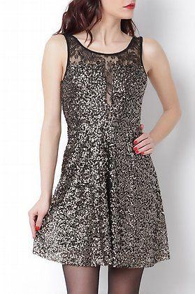 3de2eef2482 Vestido de lentejuelas con encaje-elarmariodelatele