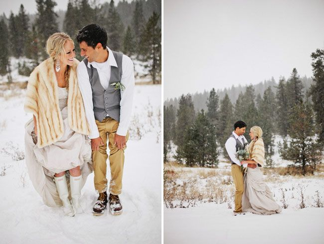 Rustic Snowy Winter Wedding