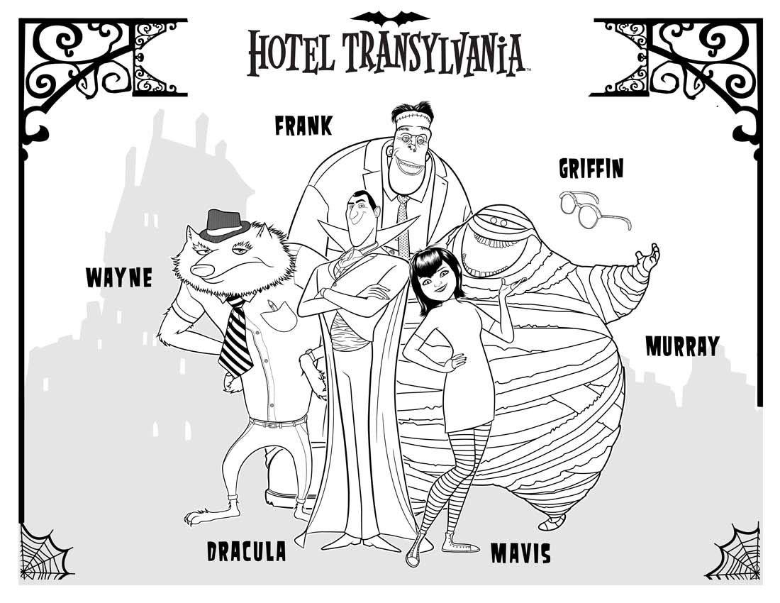 Disegni Da Colorare Del Nuovo Film Hotel Transylvania In Uscita Dal 16 Novembre Al Cinema Http Www Piane Jeux A Imprimer Hotel Transylvanie Transylvanie