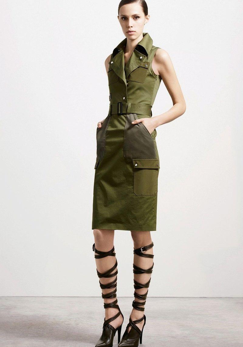 Фото женская мода военной тематики можете