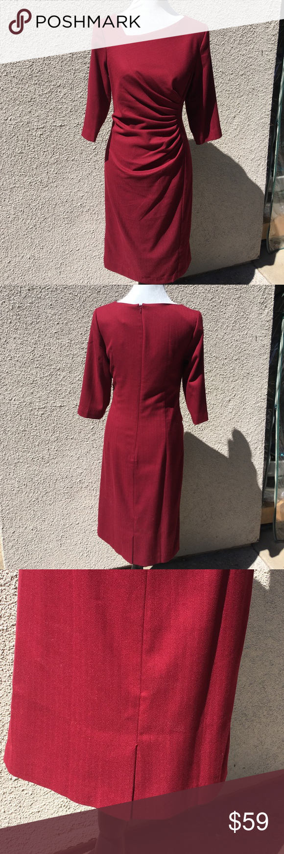 Wine red dress nwt boutique size uk belle dress and red satin