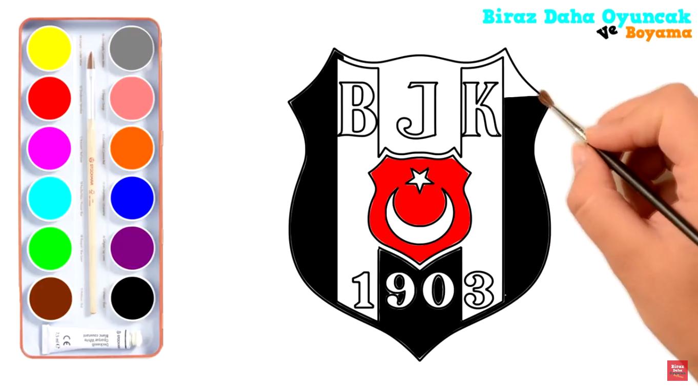 Beşiktaş Boyama önce Kalemle çizdik Sonra Sulu Boyayla Boyadık