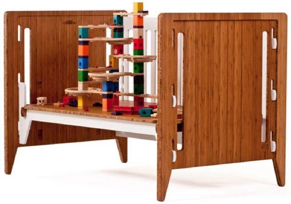 Muebles evolutivos para que la habitación del bebé crezca con él. Cunas