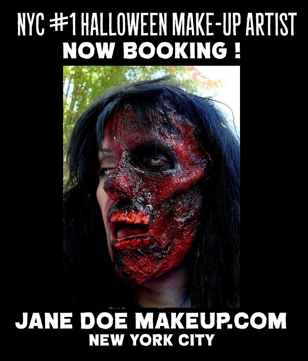Halloween Makeup Artist NYC Jane Doe Makeup Now