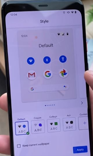 How to customize Pixel 4 XL theme Themes app, Accent