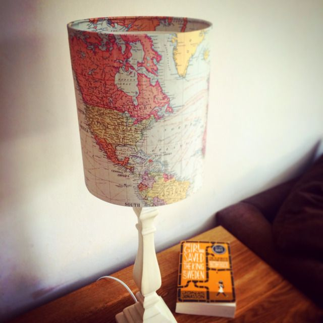 Light up the world with this map lampshade and whilst youre at it spruce · old mapsmetal wallspaint