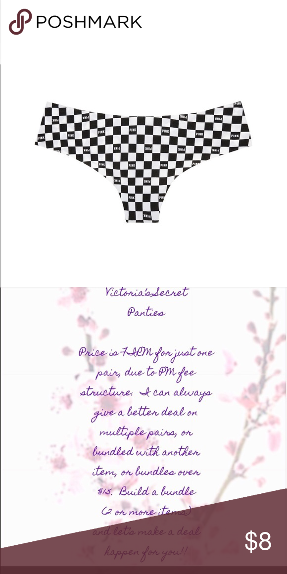 762dccd32ee70 VS PINK No-Show Thong - Sizes S & M All VS Panties are NWT and/or ...