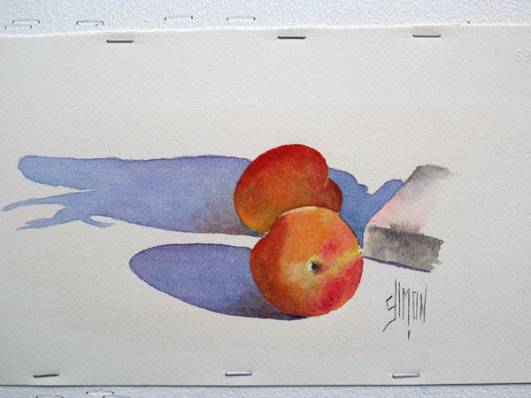 Aquarelle Abricot Finale Joel Simon Tutorial Nature Morte
