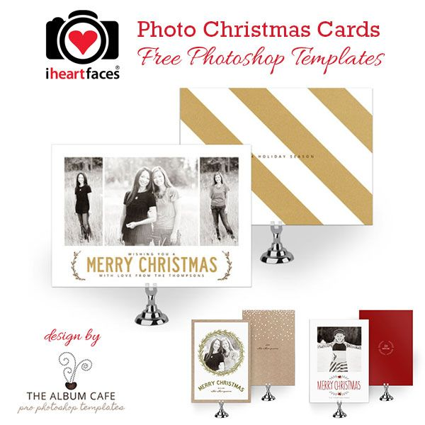 free christmas card photoshop templates exclusive designs by the album cafe for iheartfacescom