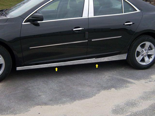 Malibu 2013 2015 Chevrolet 4 Pieces Body Molding Or Rocker Panel Accent Trim Kit 2 5 Width Below The Door On The R Body Molding Chevy Malibu Chevrolet