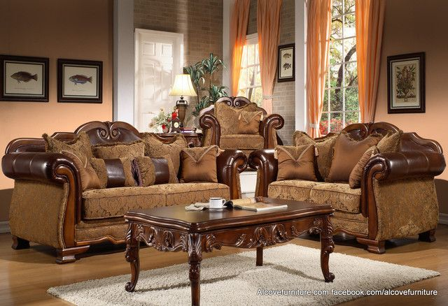 High Quality Traditional Living Room Furniture Sets 3 Traditional