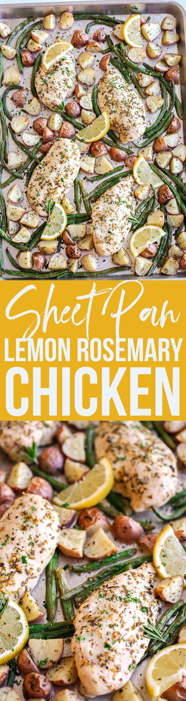 Sheet Pan Lemon Rosemary Chicken & Potatoes