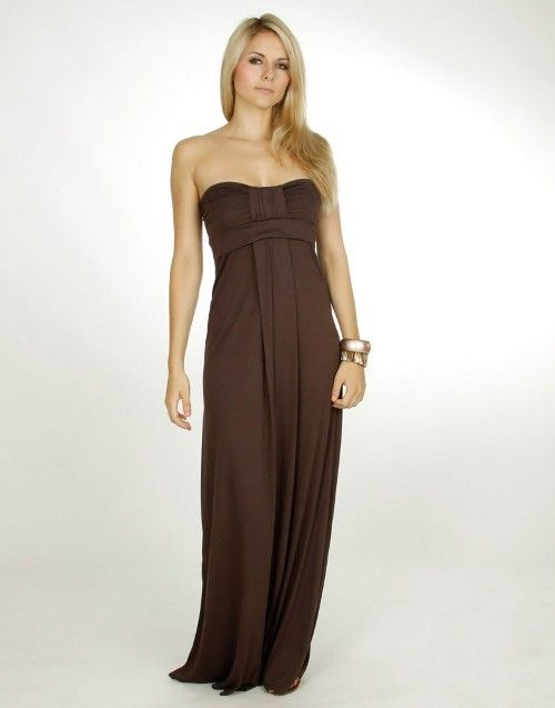 brown strapless maxi dresses uk Brown Straples Maxi Dresses in the ...