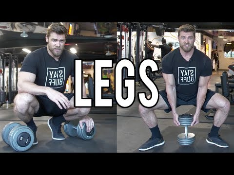 LEGS DUMBBELL ONLY WORKOUT (at home or gym) | Dumbbell Workout Plan P4D1 #dumbbellworkout