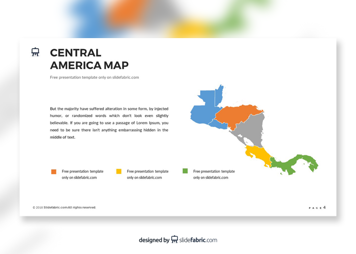 Central america map free maps powerpoint pinterest central explore these ideas and more toneelgroepblik Images