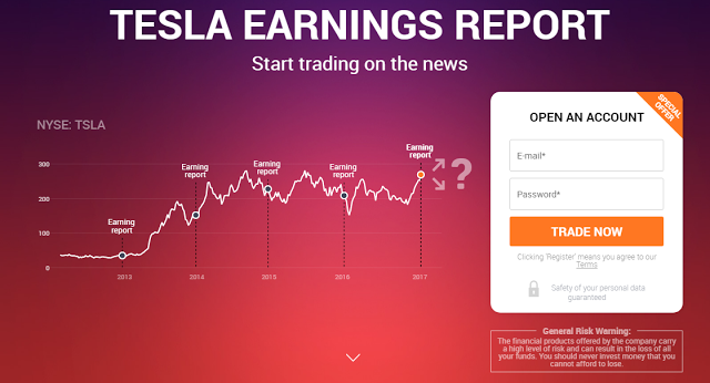 Currency Trading News Tesla Earnings Report