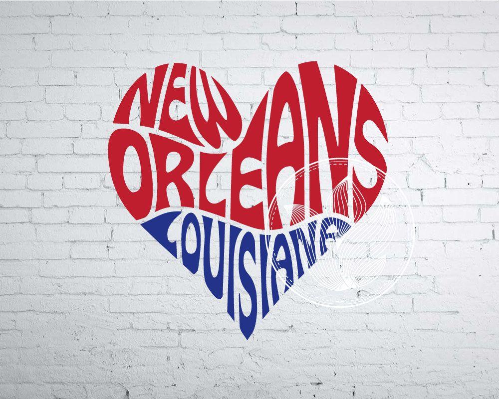 New Orleans La Word Art New Orleans La Svg Dxf Eps Png Jpg Etsy Word Art Design Word Art Logo Design