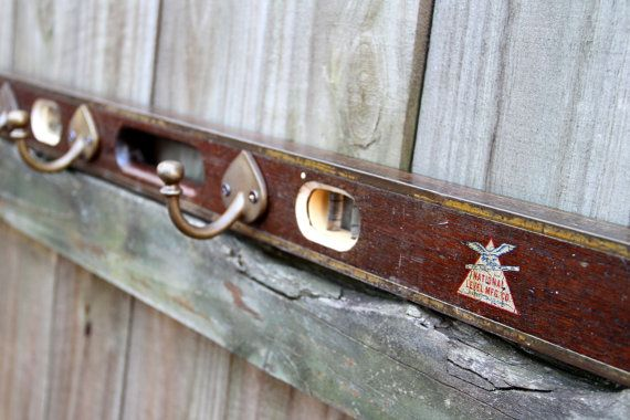Wall Coat Rack Made From A Vintage Wooden Level Good Idea For My