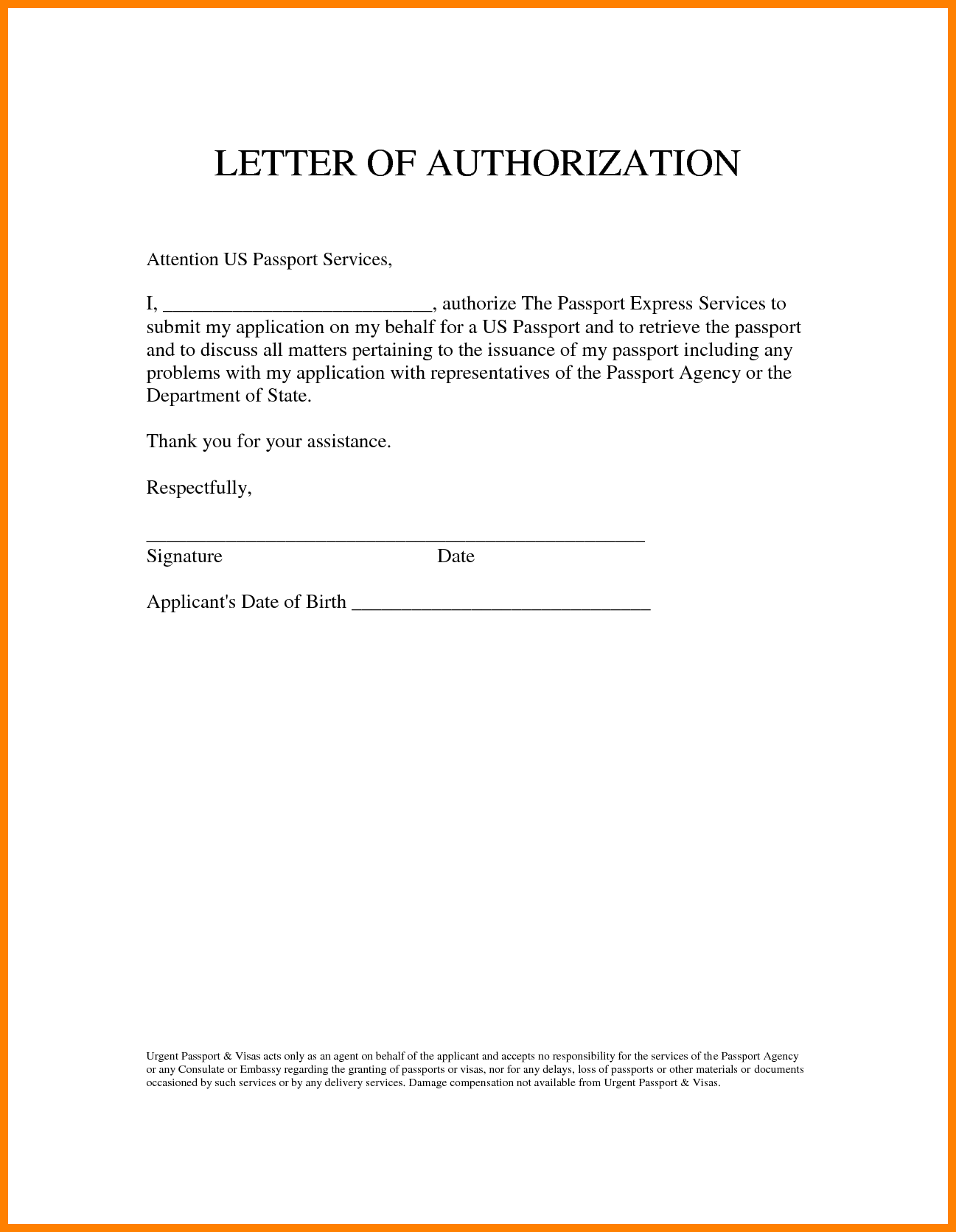 Noc letter format for passport authorization template featuring noc letter format for passport authorization template featuring blank space table canada affidavit and declaration forms spiritdancerdesigns Image collections