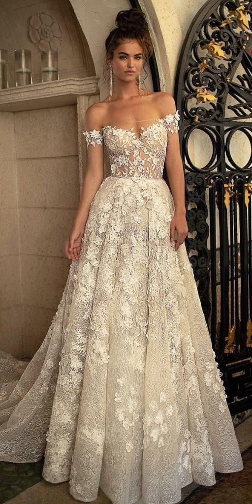 24 Awesome Off The Shoulder Wedding Dresses Inspiration – Weddings are always beautiful