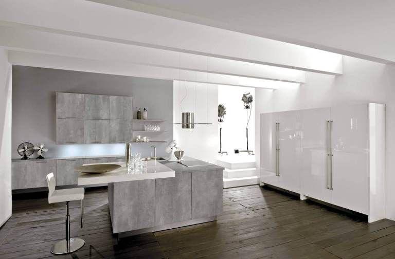 Graue Küche Die 6 schönsten Ideen und Bilder - küchenschränke nach maß