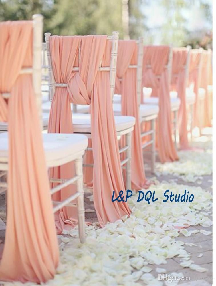 wedding chair sash accessories cosatto replacement high seat cover top quality sashes peal pink chiffon 2mx0 5m long suppliers