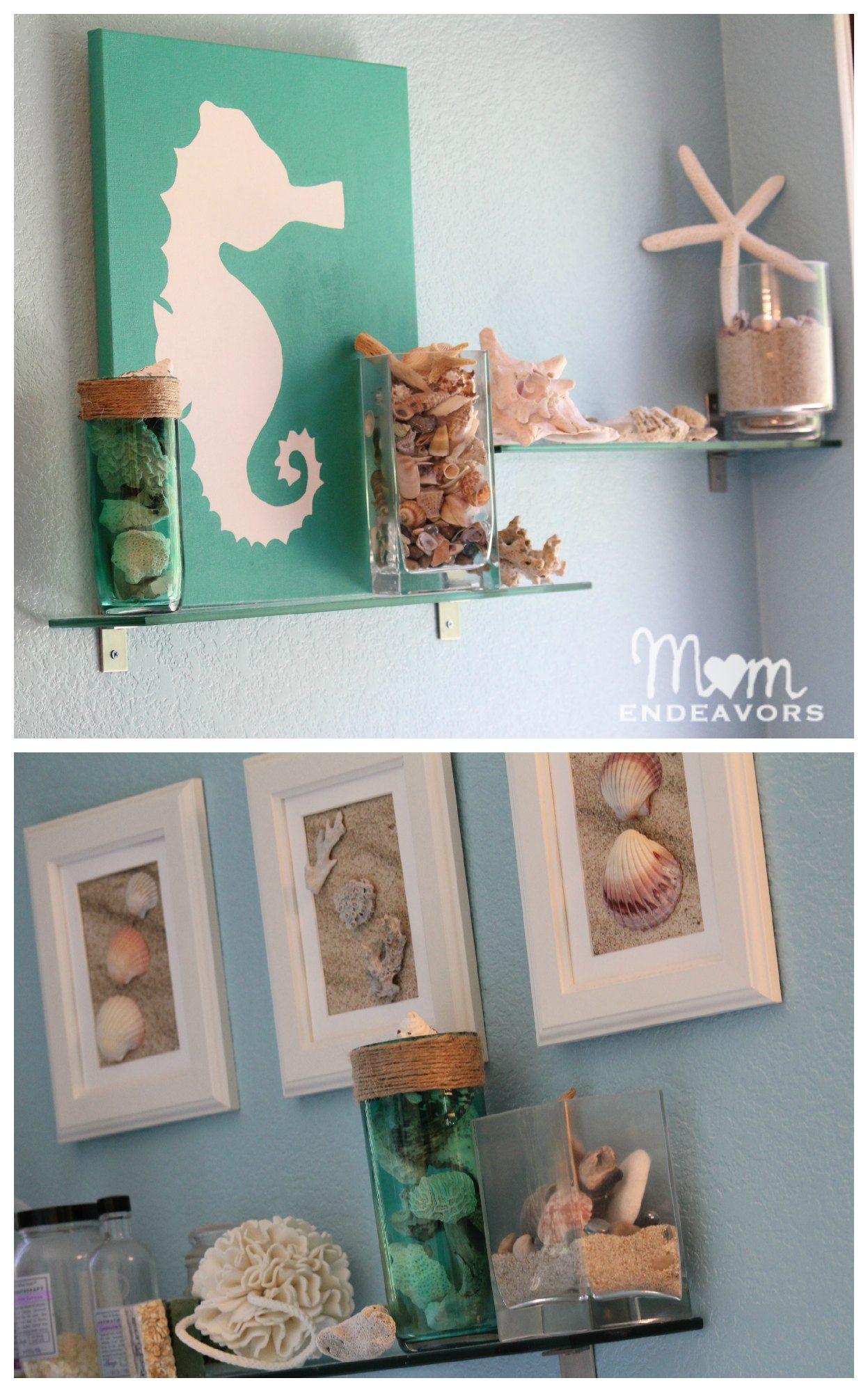 Entspannendes badezimmerdekor beach bathroom  craft ideas  wall art  pinterest  badezimmer