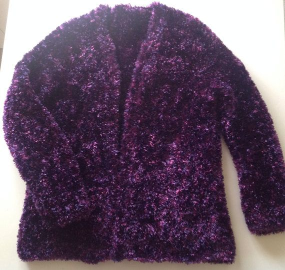 Purple Handmade Knitted Jacket, Scarf and Hat on Etsy, $60.00 AUD
