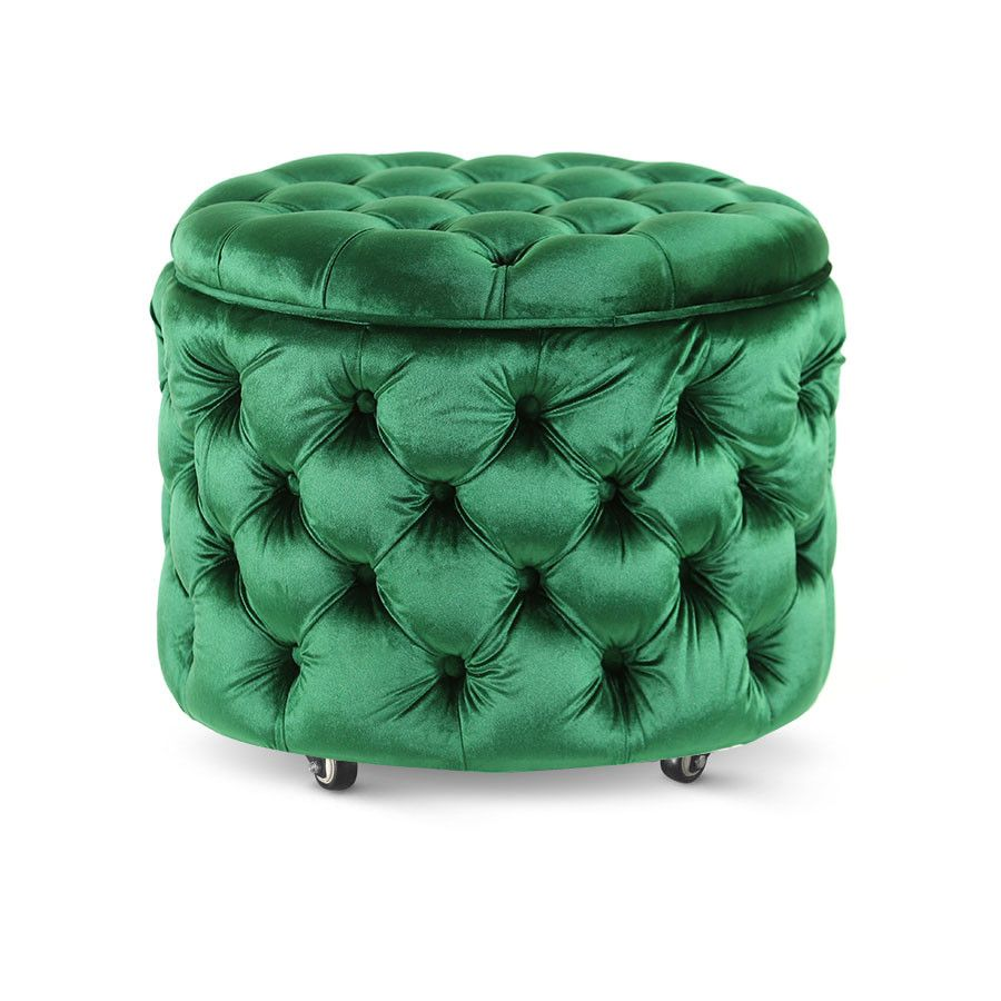 Pleasing Emma Storage Ottoman Small Emerald In 2019 Small Space Squirreltailoven Fun Painted Chair Ideas Images Squirreltailovenorg