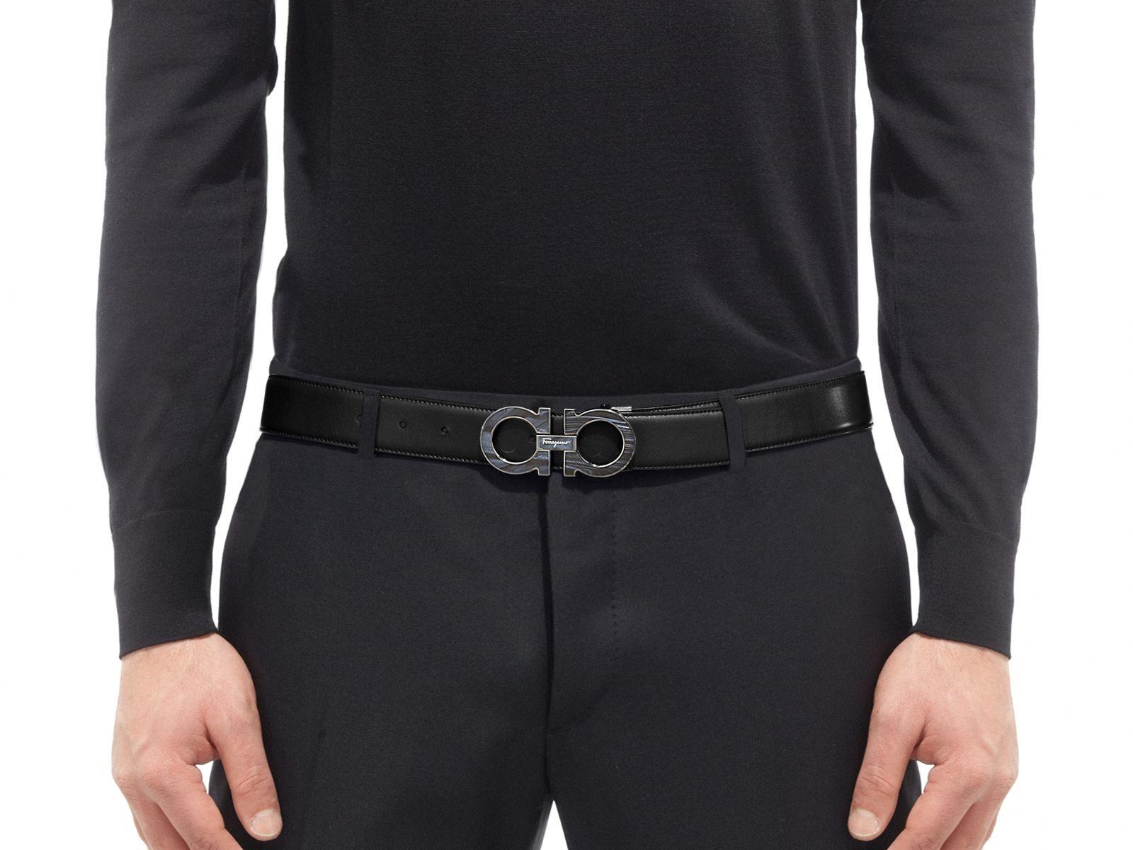 Parfait pour un look raffiné et citadine, ceinture réglable avec boucle  personnalisée en ruthénium brillant. 008d35f114d