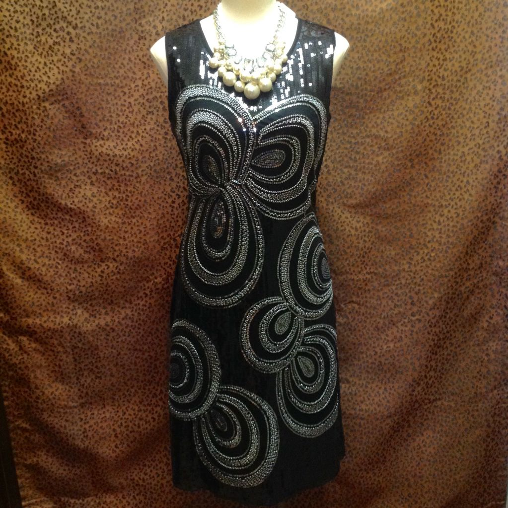 Damee, Inc.  - Black dress with sparkle and silver trim - $109