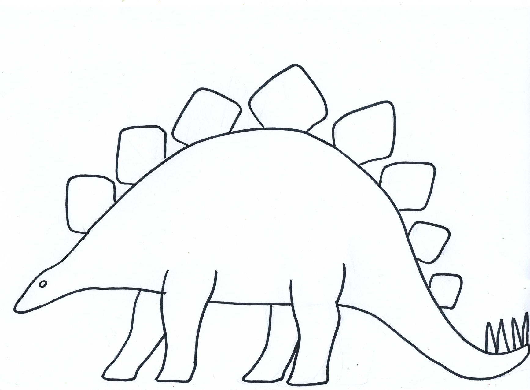 photo relating to Dinosaur Outline Printable known as blank dinosaur template Paper Crafts for Kids