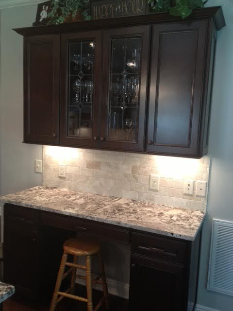 Kitchen cabinet homecrest cabinetry cherry tuscan java for Bathroom cabinets knoxville tn