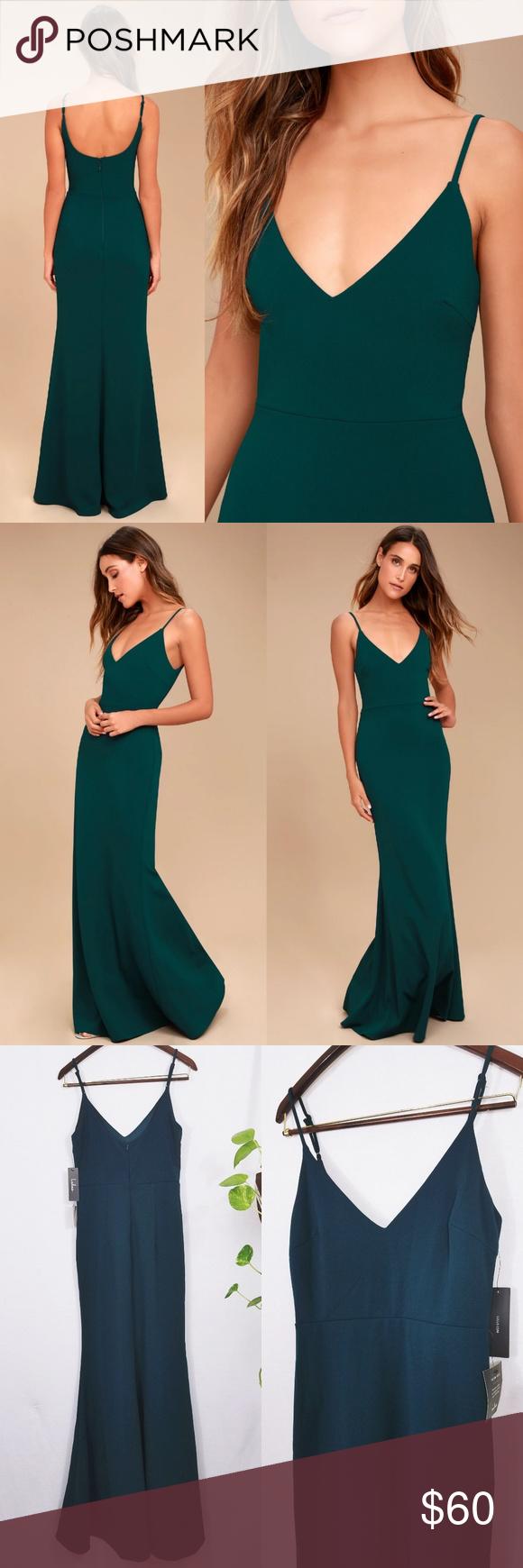 249e80ff3b Infinite Glory Forest Green Maxi Lulus Dress Sleek