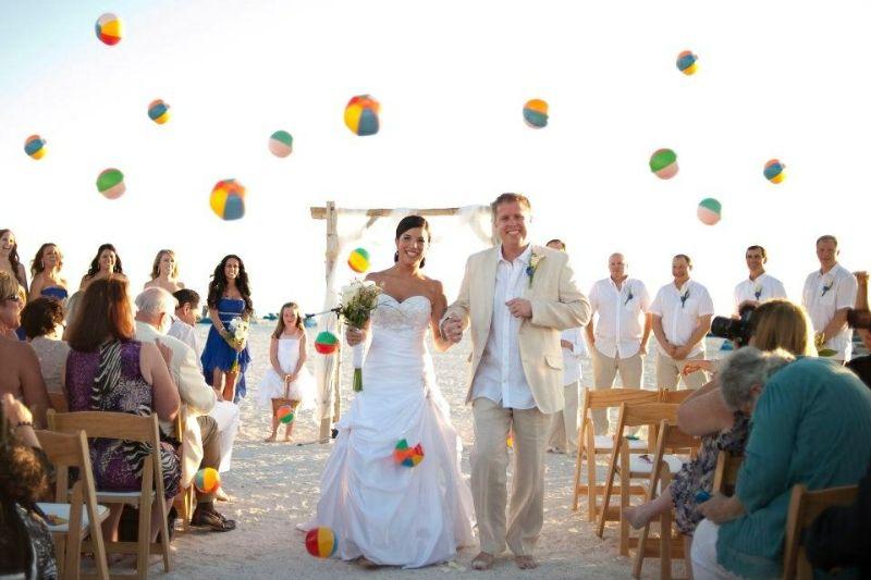 Beach Wedding At The Post Card Inn On St Pete Fl Being