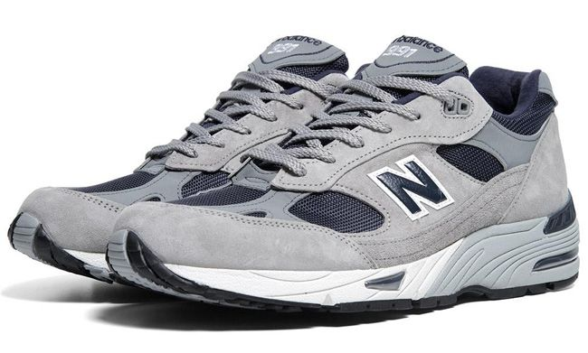 New Balance 991 Made In Usa Grey Navy Eu Kicks Sneaker Magazine Retro Running Shoes New Balance Running Sneakers