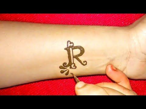 3cf52e659 DIY ''R'' letter Henna tattoo | Alphabet R letter Mehndi Design - YouTube
