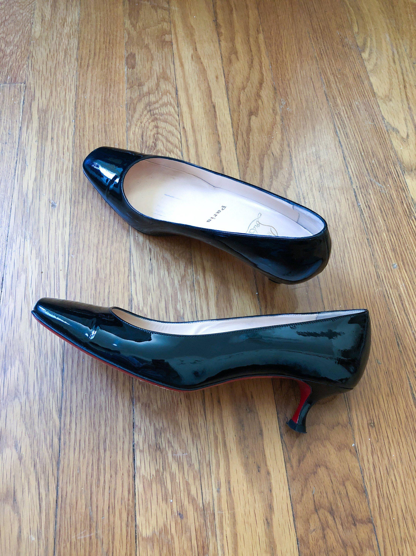 Christian Louboutin Black Patent Leather Heels Louboutin Kitten Heels Louboutin Patent Leather Black Patent Leather Heels Designer Black Patent Leather Heels Black Patent Leather Patent Leather Heels