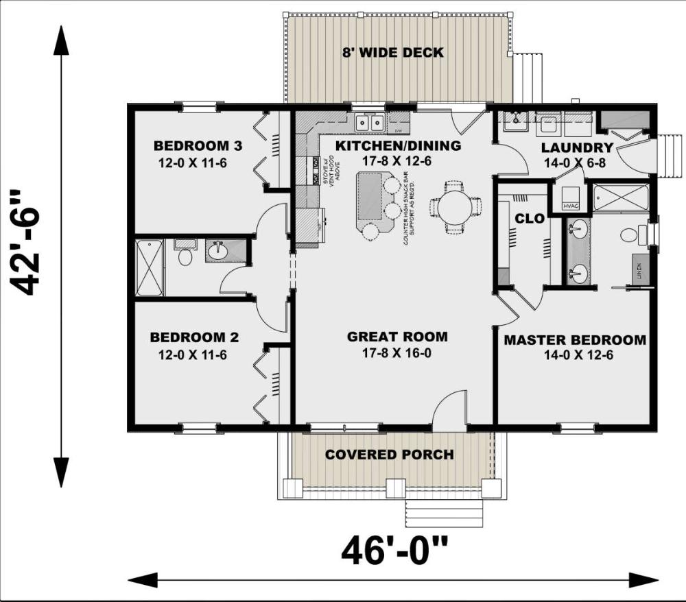 House Plan 1776 00100 Modern Farmhouse Plan 1 311 Square Feet 3 Bedrooms 2 Bathrooms In 2020 Coastal House Plans House Floor Plans Ranch House Plans